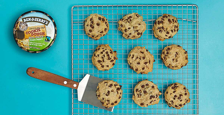 The Ultimate Vegan Chocolate Chip Cookies on a cooling rack