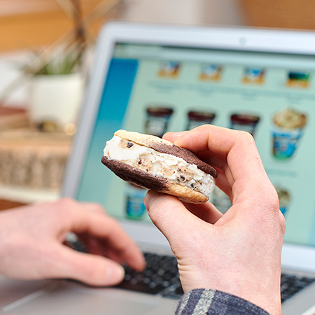 Multitasking with Ben & Jerry's 'Wich - Drool at Benjerry.com